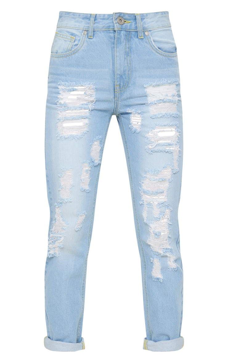 Bleach Wash Distressed Boyfriend Jean 3