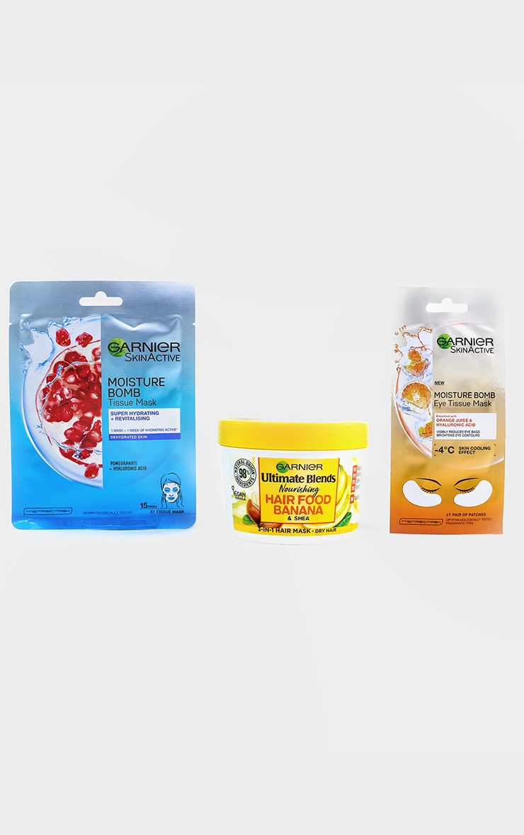 Garnier Ultimate Mask Trio for Face, Hair and Eyes 2