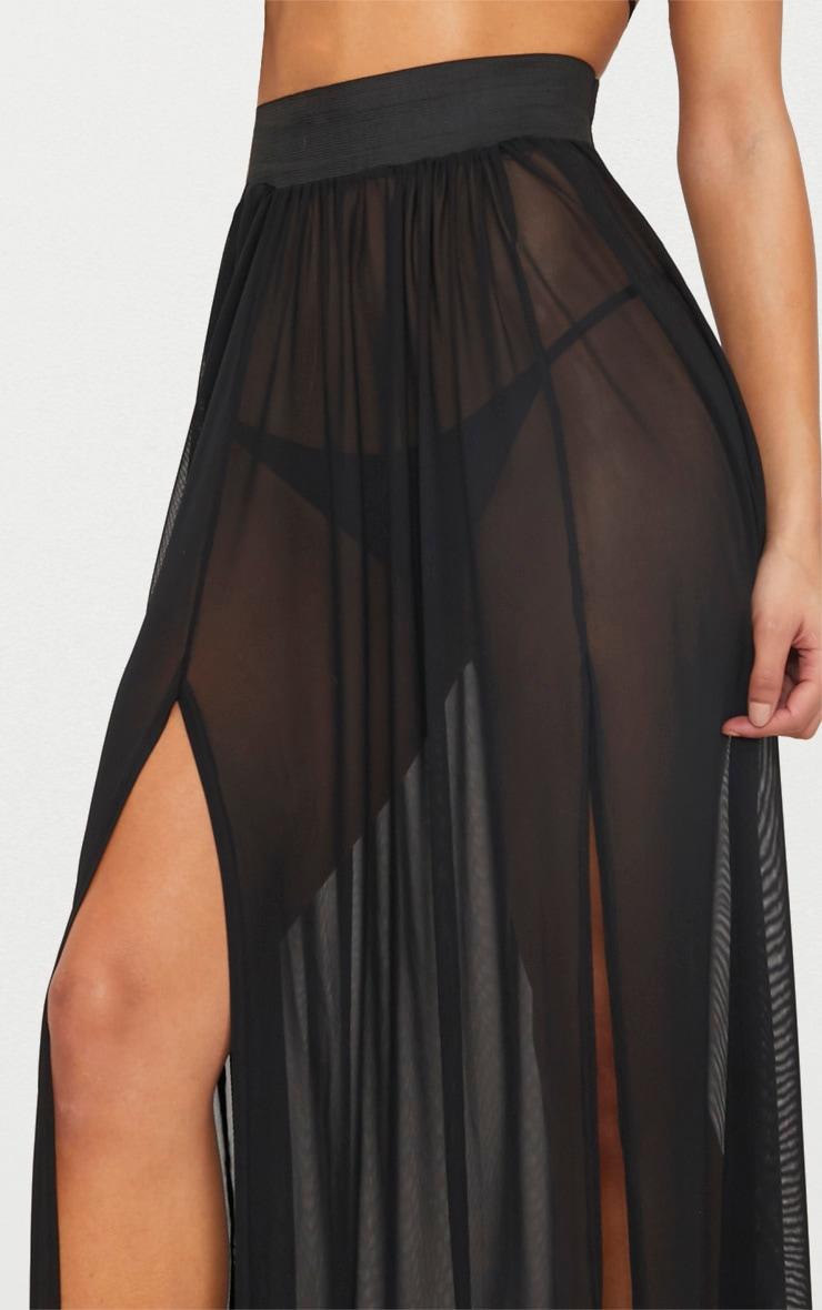 Jupe longue en mesh noire 4
