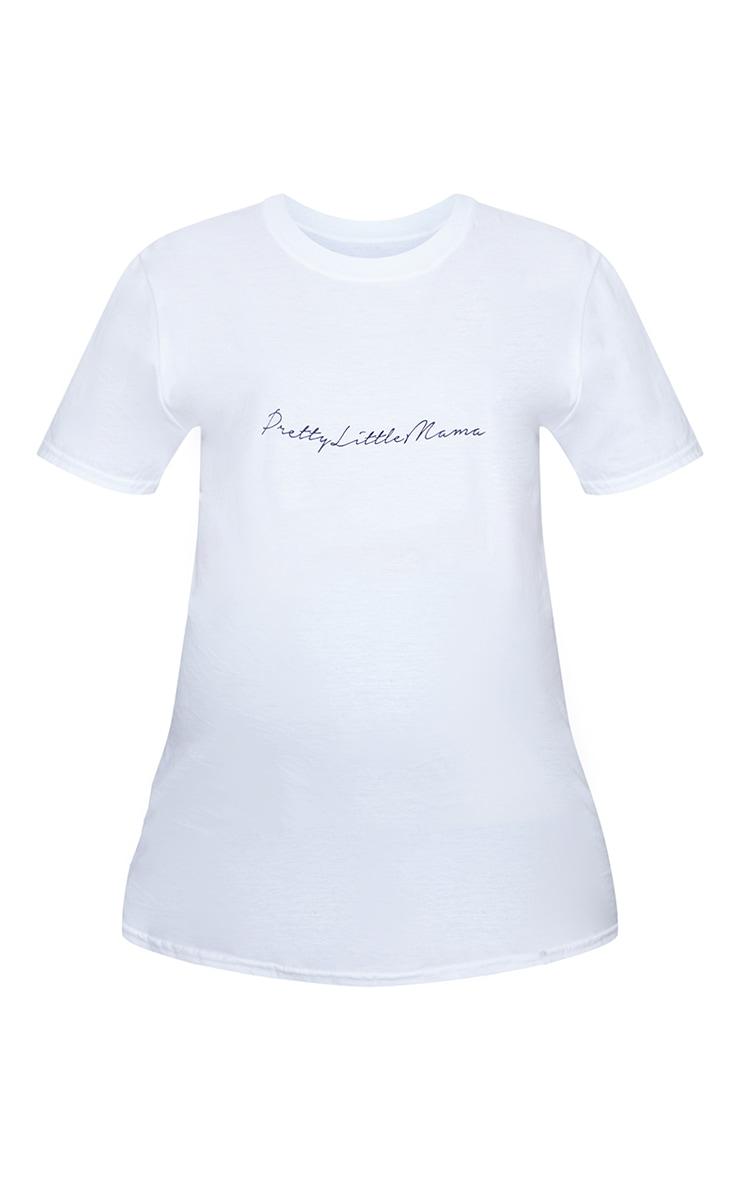 PRETTYLITTLETHING Maternity White T Shirt 5
