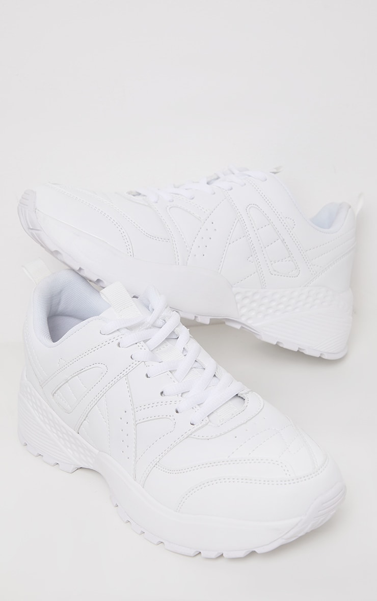 White Bobble Sole Sporty Chunky Sneaker 4