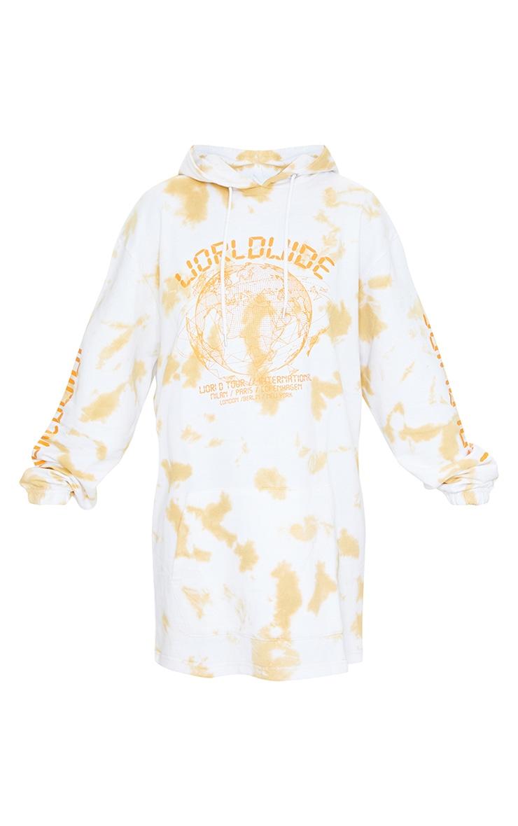 Stone Worldwide Slogan Oversized Tie Dye Hoodie Sweater Dress 5