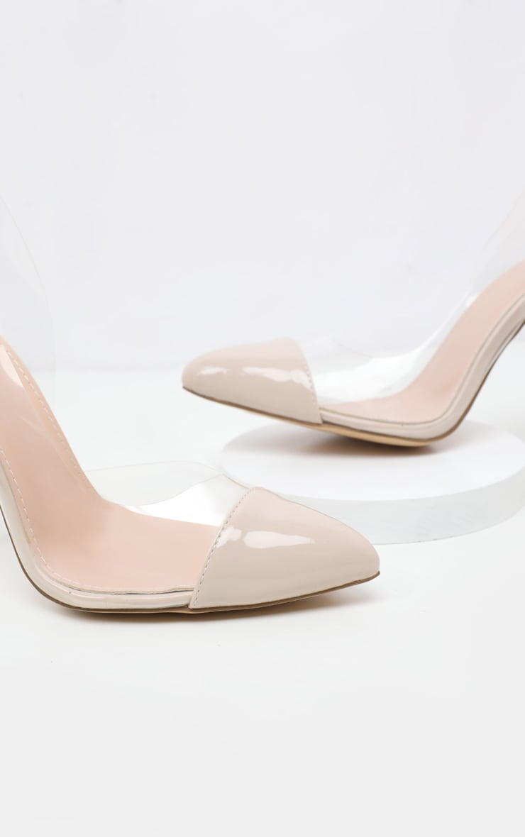Nude Slingback Clear Court 4