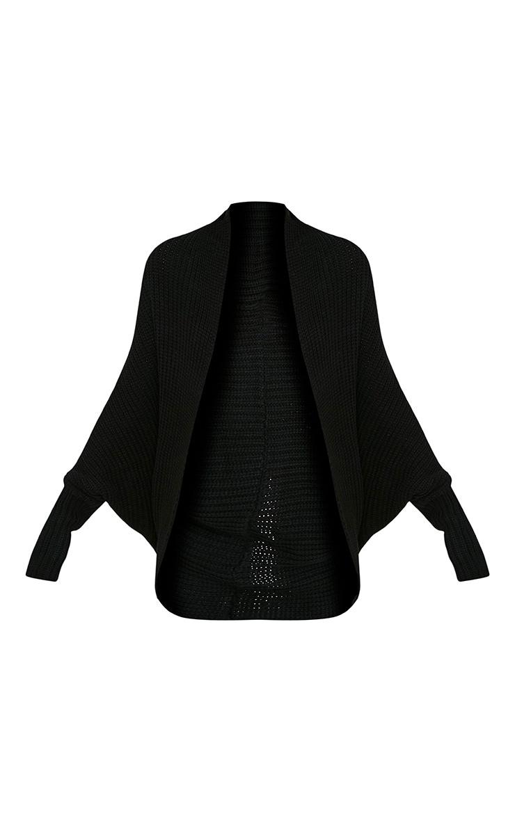 Kaylae cardigan cocon tricoté style pêcheur noir 3
