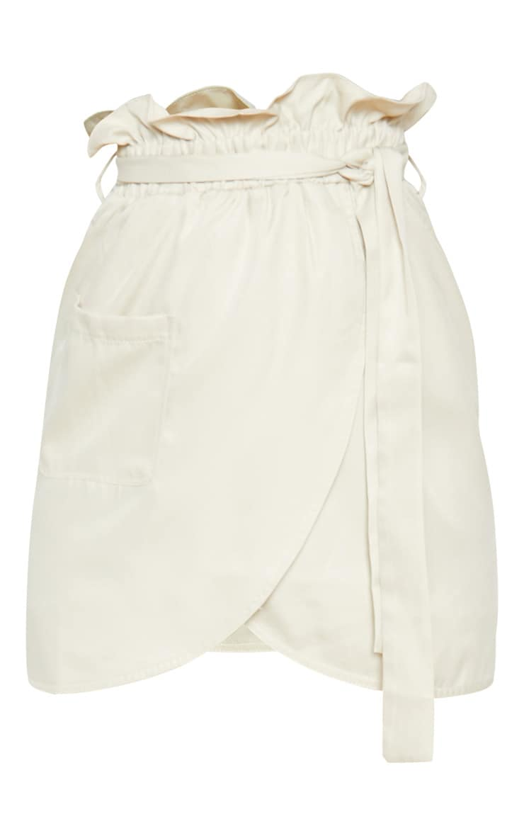 Stone Pocket Detail Tie Waist Mini Skirt 3