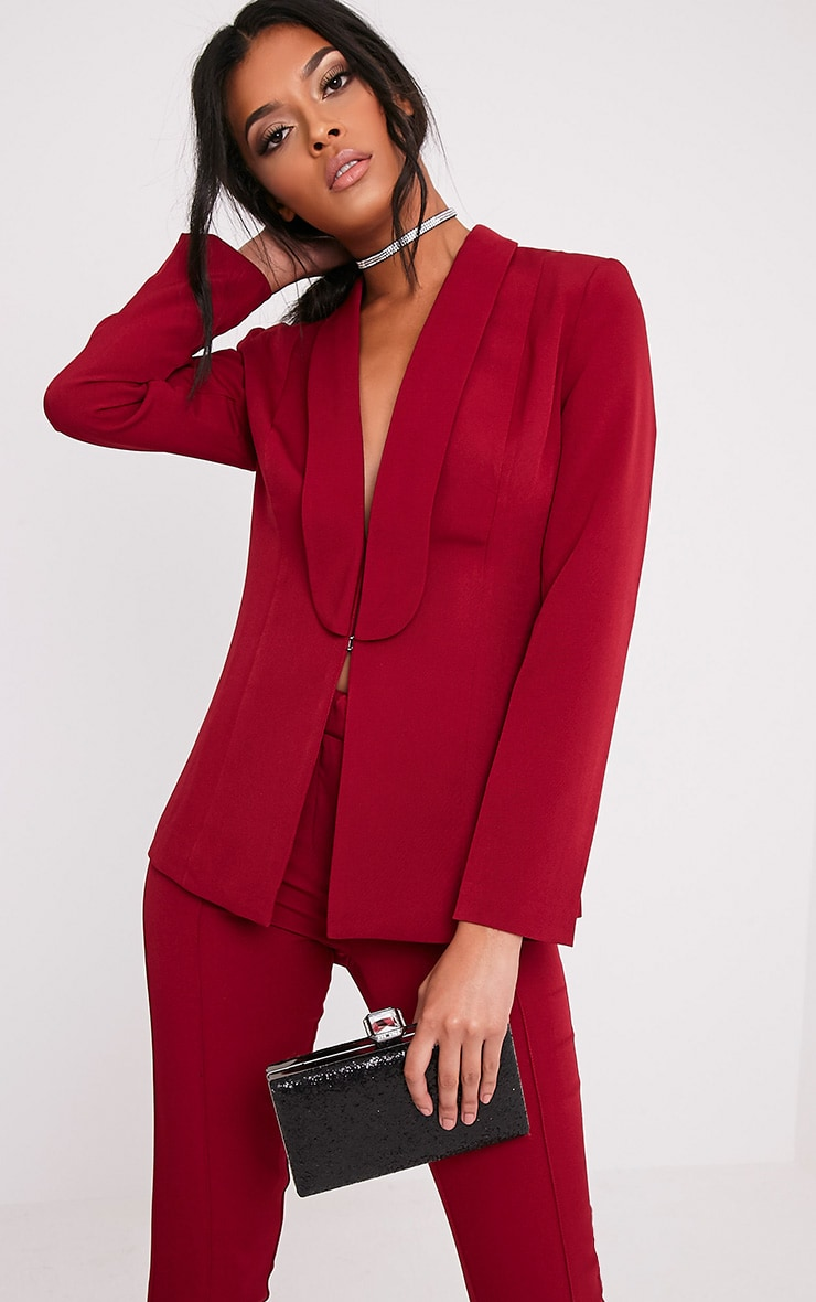 Avani Burgundy Suit Jacket 1