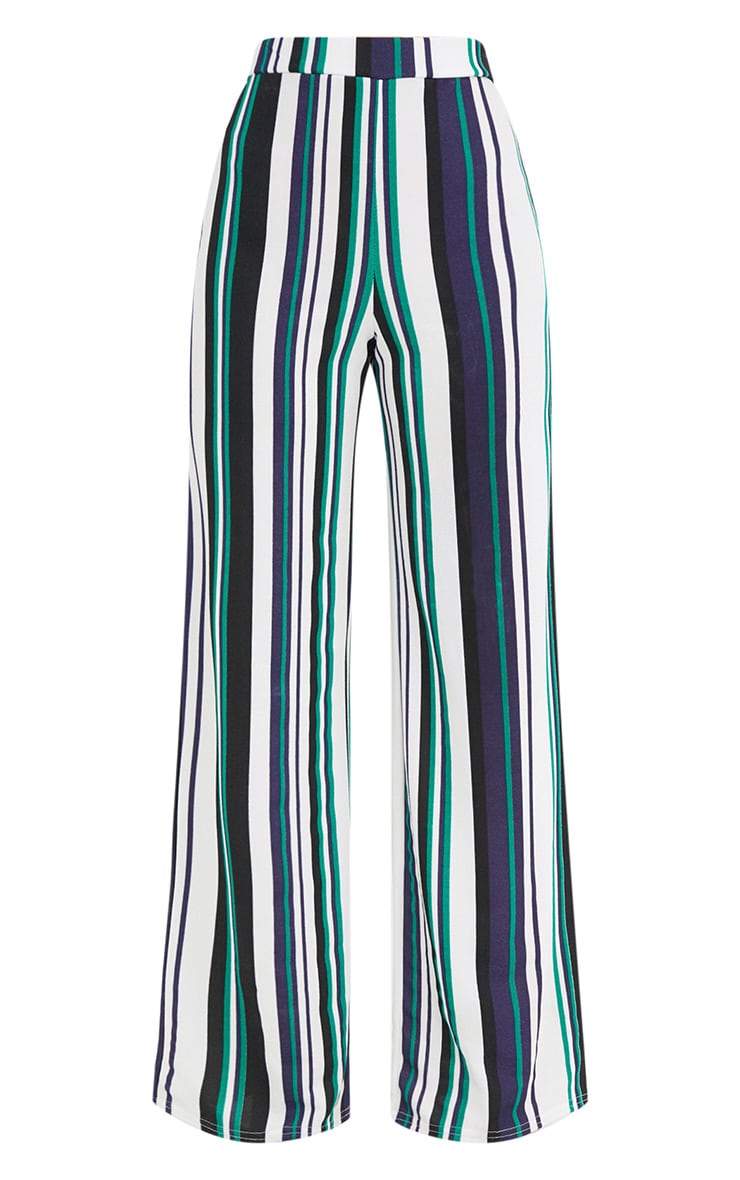 Green Stripe Wide Leg Trousers 3
