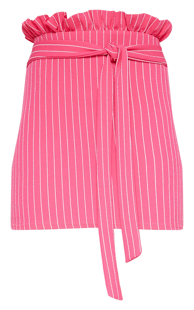 Hot Pink Paperbag Mini Skirt 3