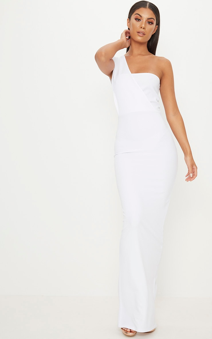 White One Shoulder Maxi Dress 1