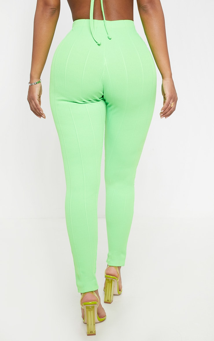 Shape Neon Lime Bandage Legging  4