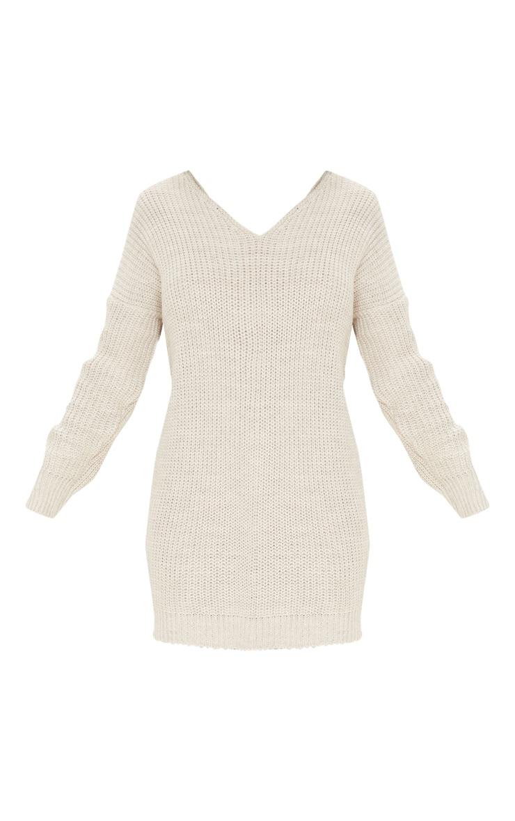 Stone Twist Back Sweater Dress 3