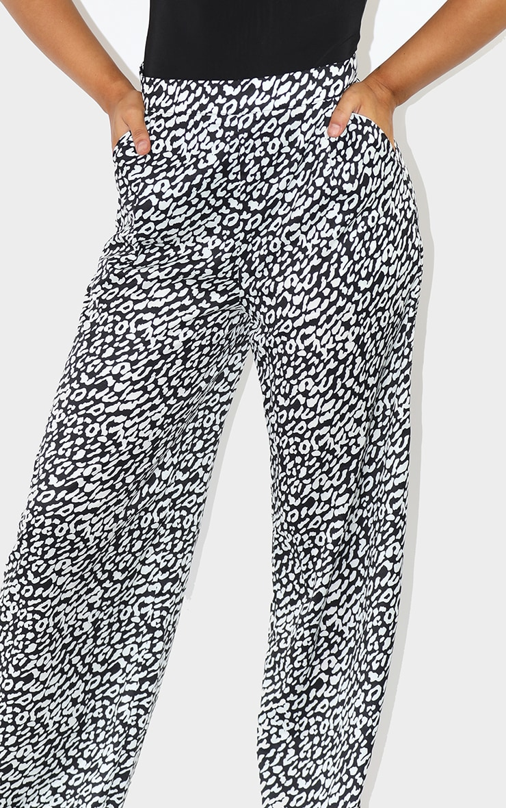 Leopard Wide Leg Trousers 4