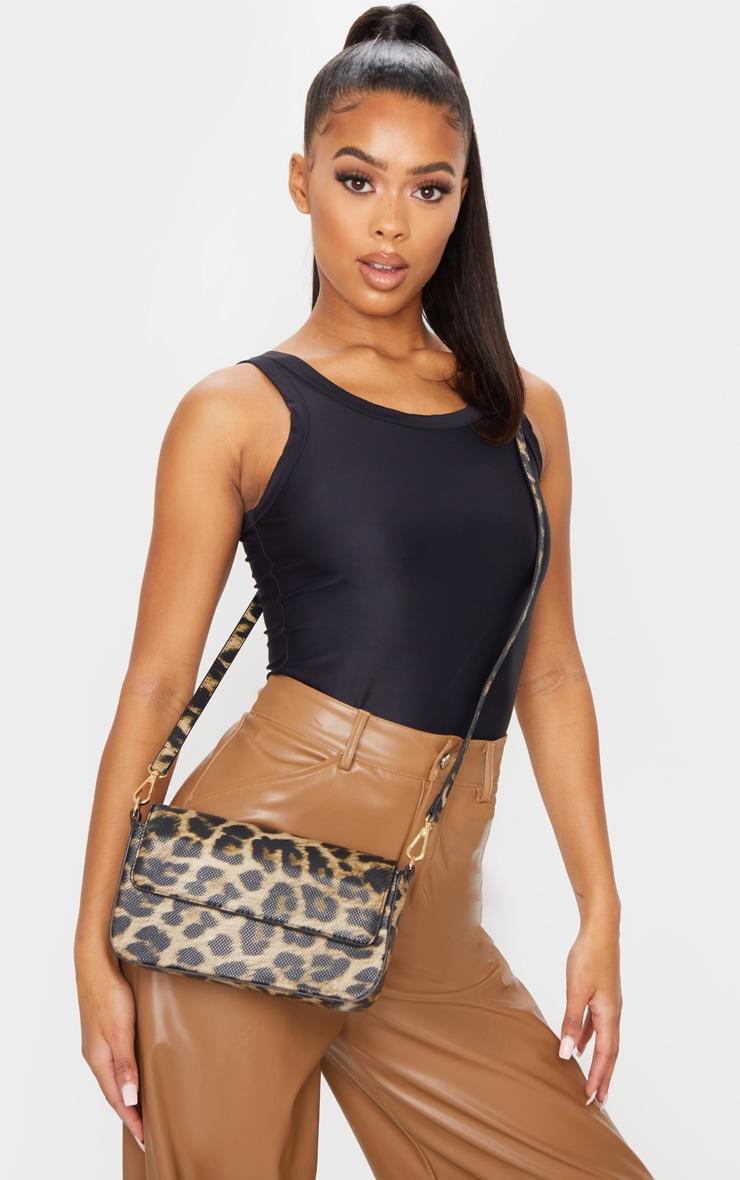 Brown Leopard Cross Body Bag 1