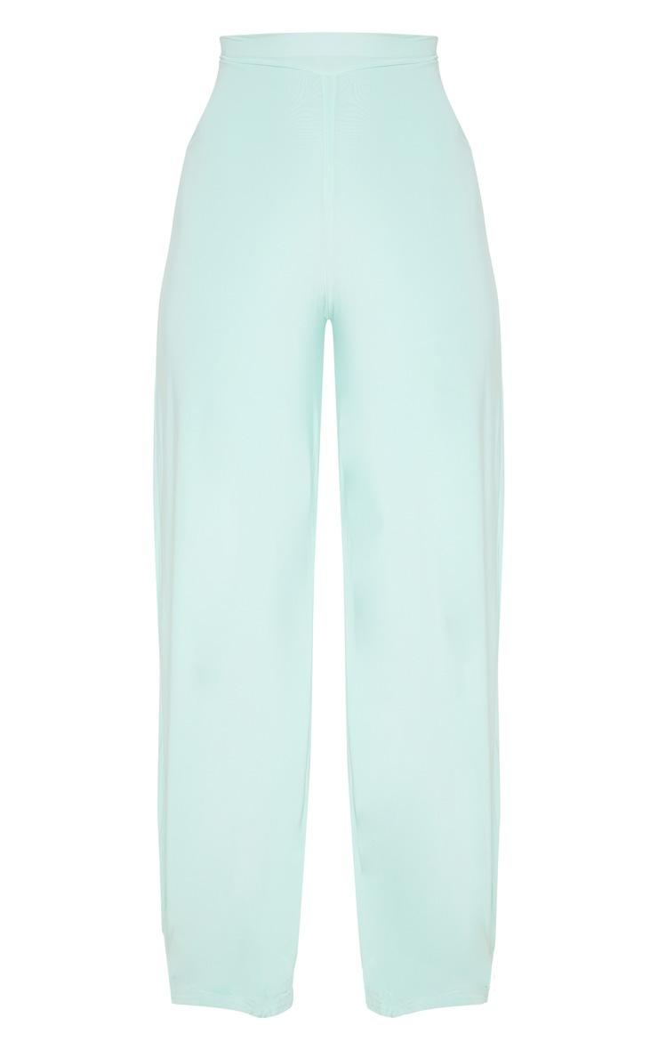 Mint Slinky Detail Wide Leg Trouser 3