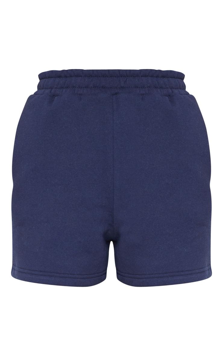 Navy Sweat Pocket Shorts 6