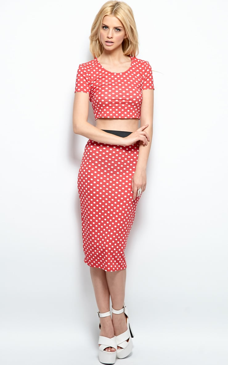 Gabriella Red Polka Dot Crop Top 4