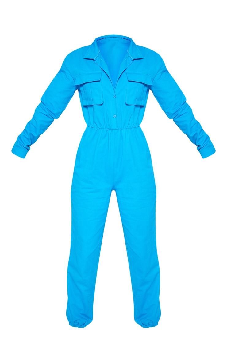 Petite Blue Utility Jogger Jumpsuit 4