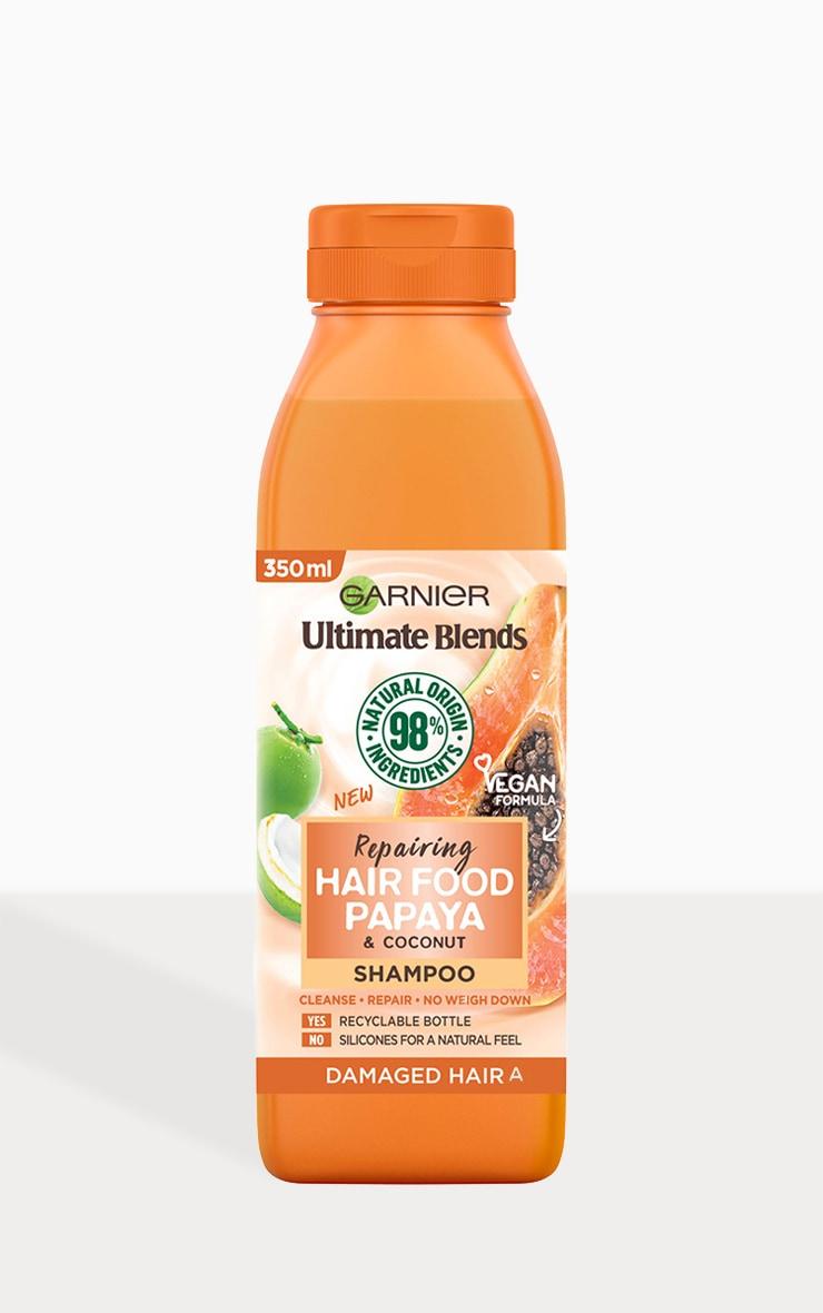 Garnier Ultimate Blends Repairing Hair Food Papaya Shampoo For Damaged Hair 350ml 2