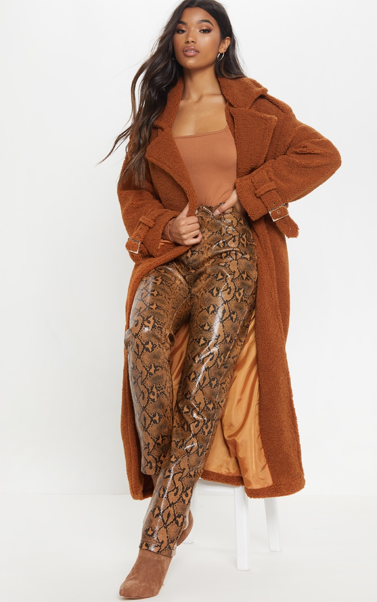Brown Borg Oversized Belted Coat 1