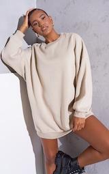 RENEW Beige Oversized Sweater Dress 1