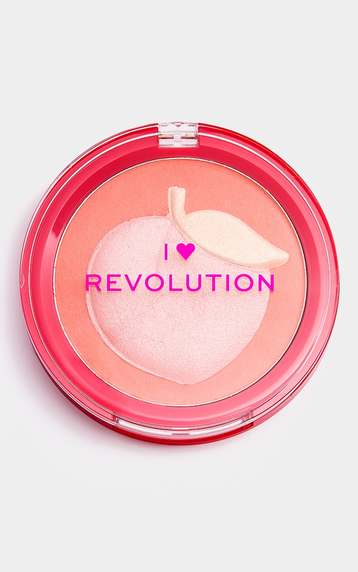 I Heart Revolution Fruity Blusher Peach 2