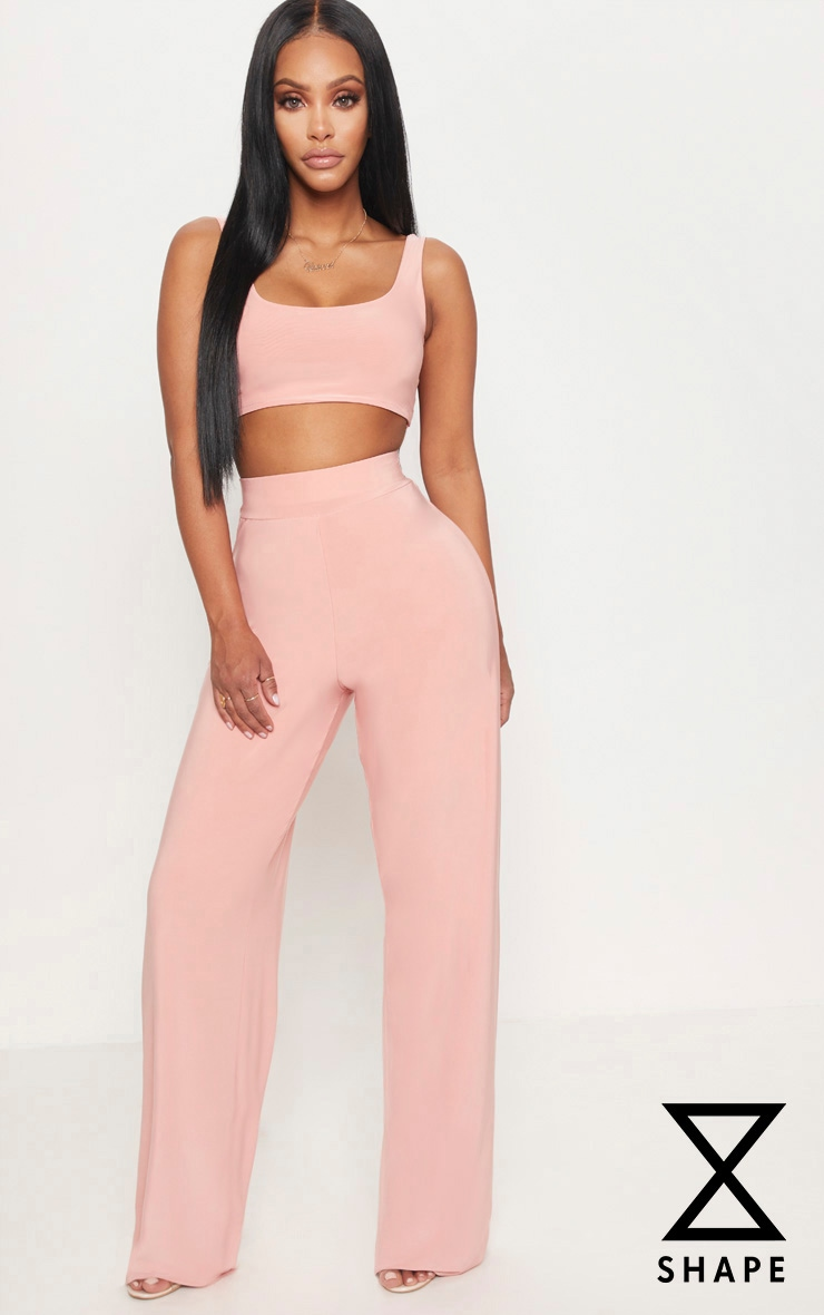 Shape Pink Slinky Extreme Wide Leg Trousers 1