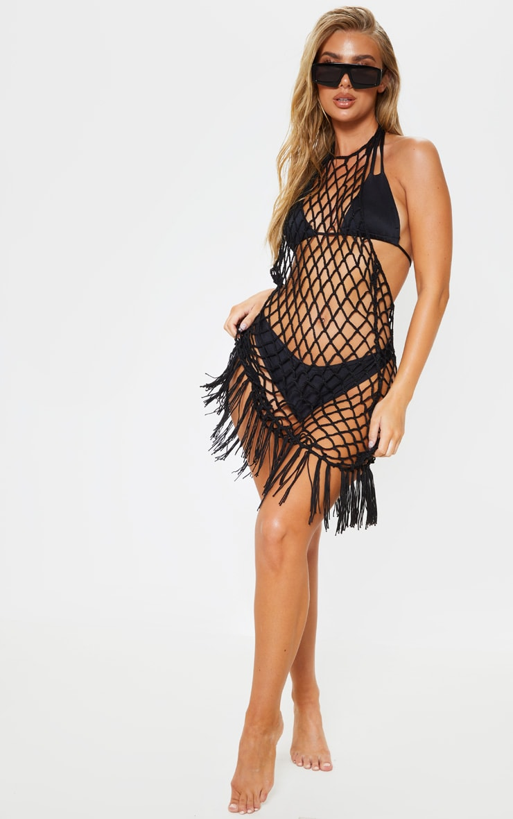 Black Crochet Coverup 4