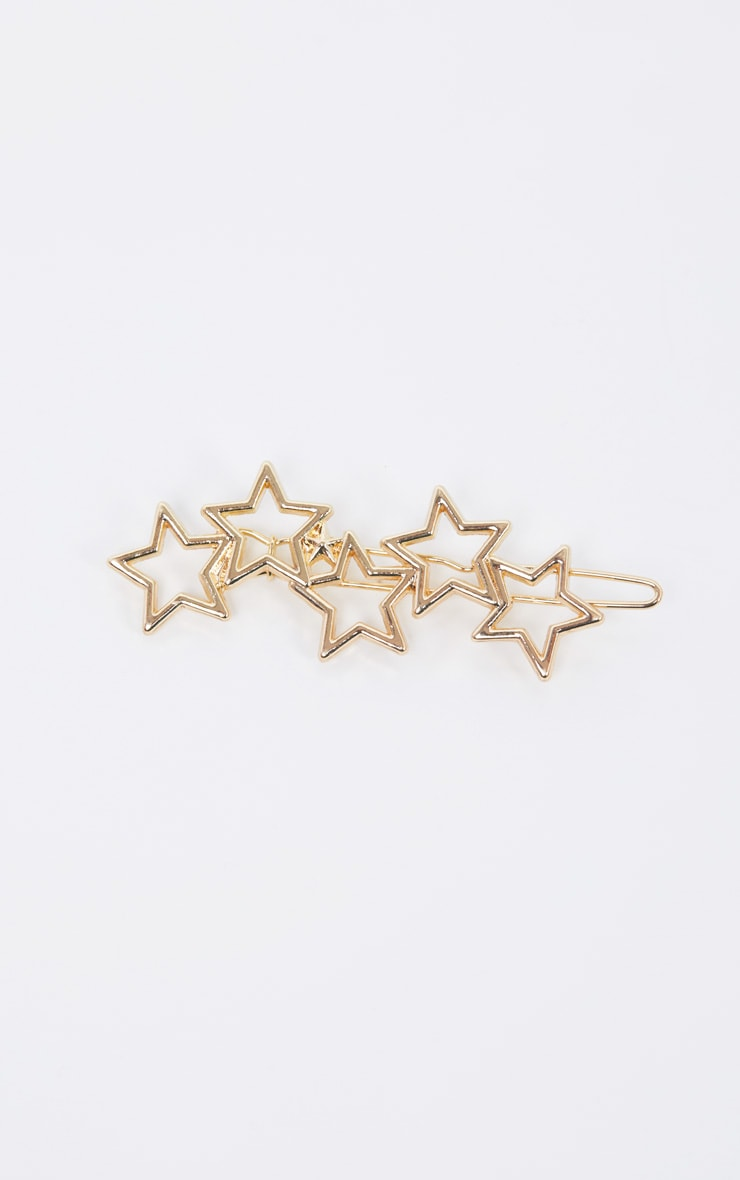 Gold Stars Hair Slide 2