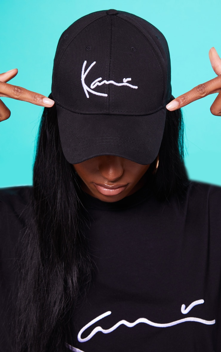 KARL KANI Black Baseball Cap (black with white writing) image 1 cdb9173b162