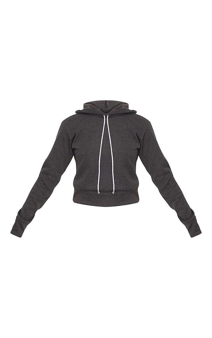 Belle Charcoal Cropped Hoodie 3