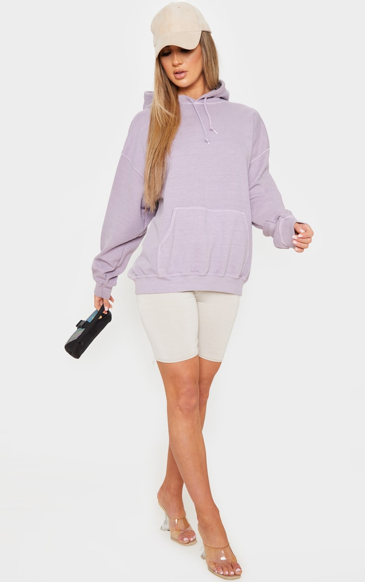 Lilac Washed Oversized Hoodie 4