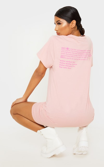 Rose Aries Definition Slogan T Shirt Dress