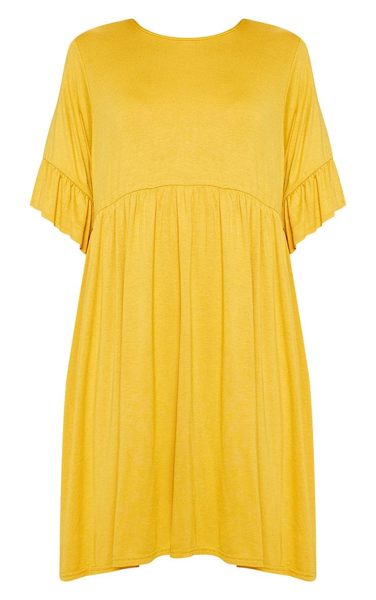 Mustard Short Sleeve Smock Dress 3