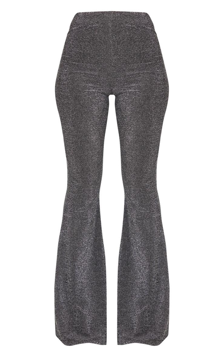Silver Glitter Wide Leg Pants 3