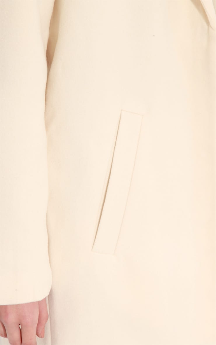 Avril Cream Longlined Boyfriend Coat 6