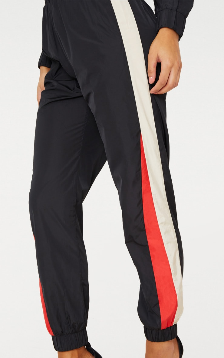 Black Stripe Shell Tracksuit Track Pants 5