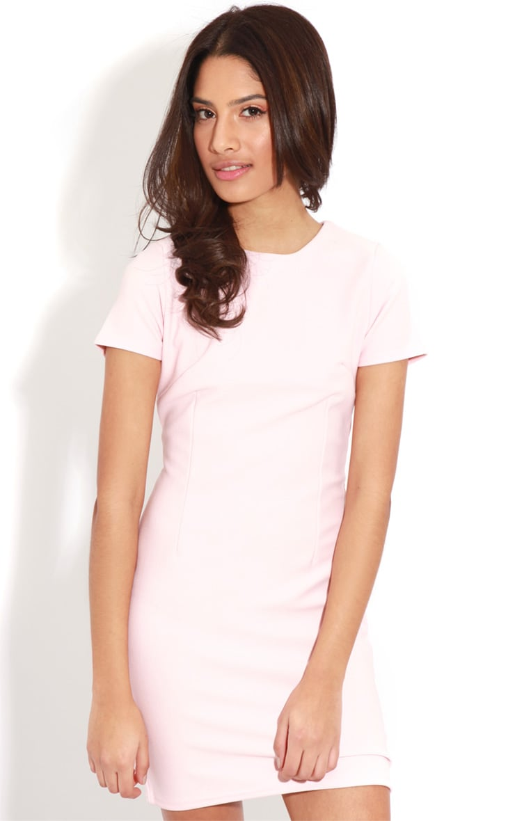 Lillie Dusty Pink Ribbed Bodycon Mini Dress 4