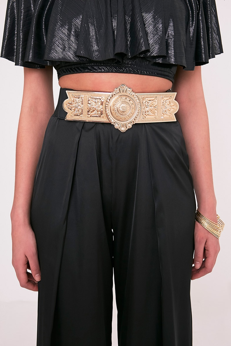 Herra Gold Ornate Buckle Waist Belt 2
