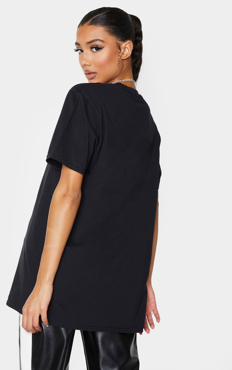 Black Brooklyn Embroidered T Shirt 2