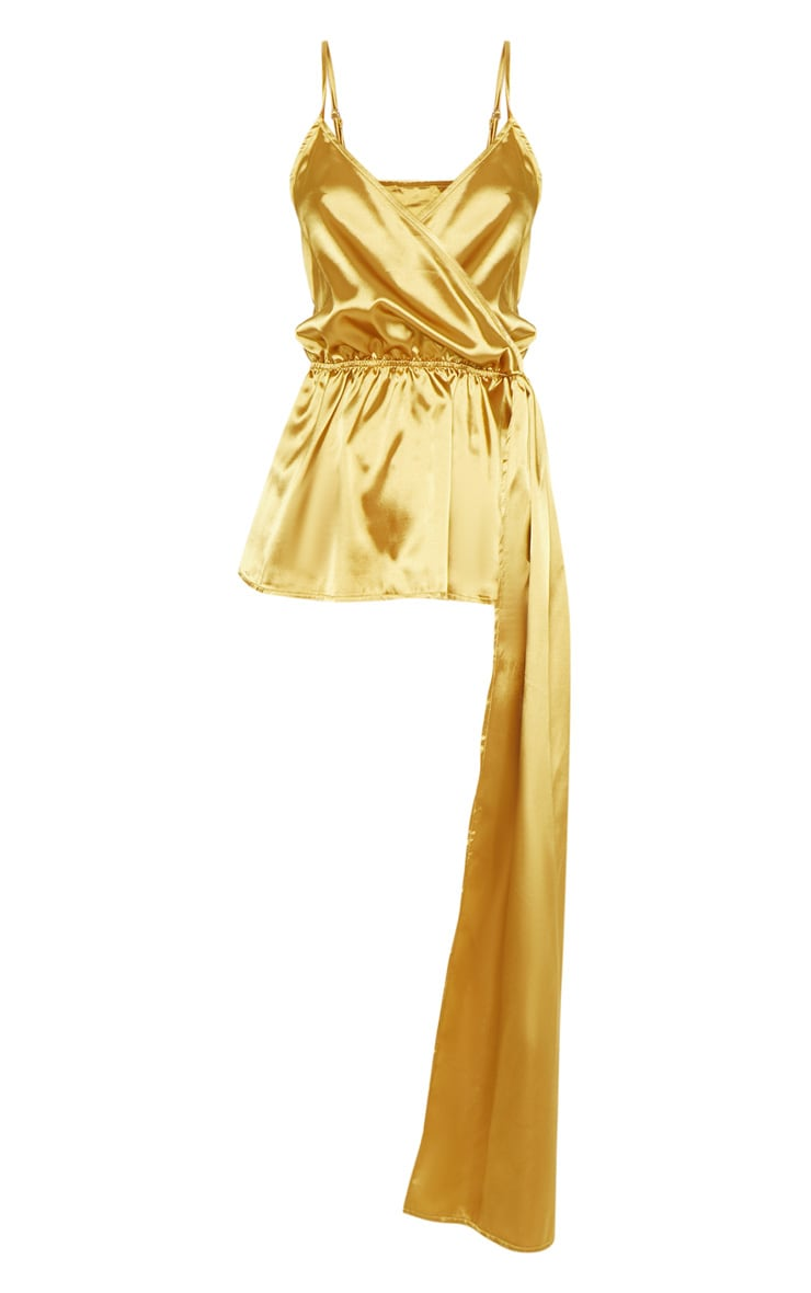 Gold Satin Strappy Tie Waist Cami 3