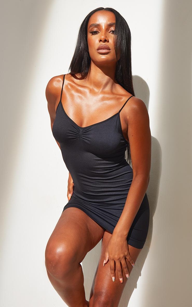 Black Shapewear Control Slip Dress 3