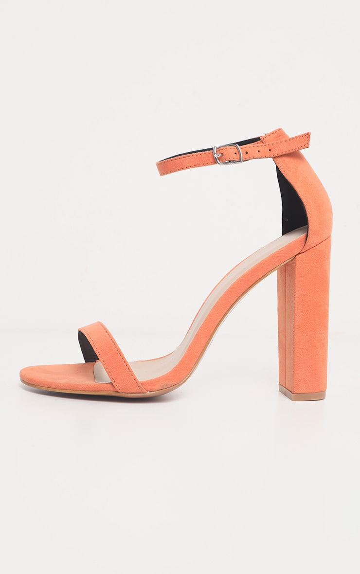 Peach May Heeled Sandal  4