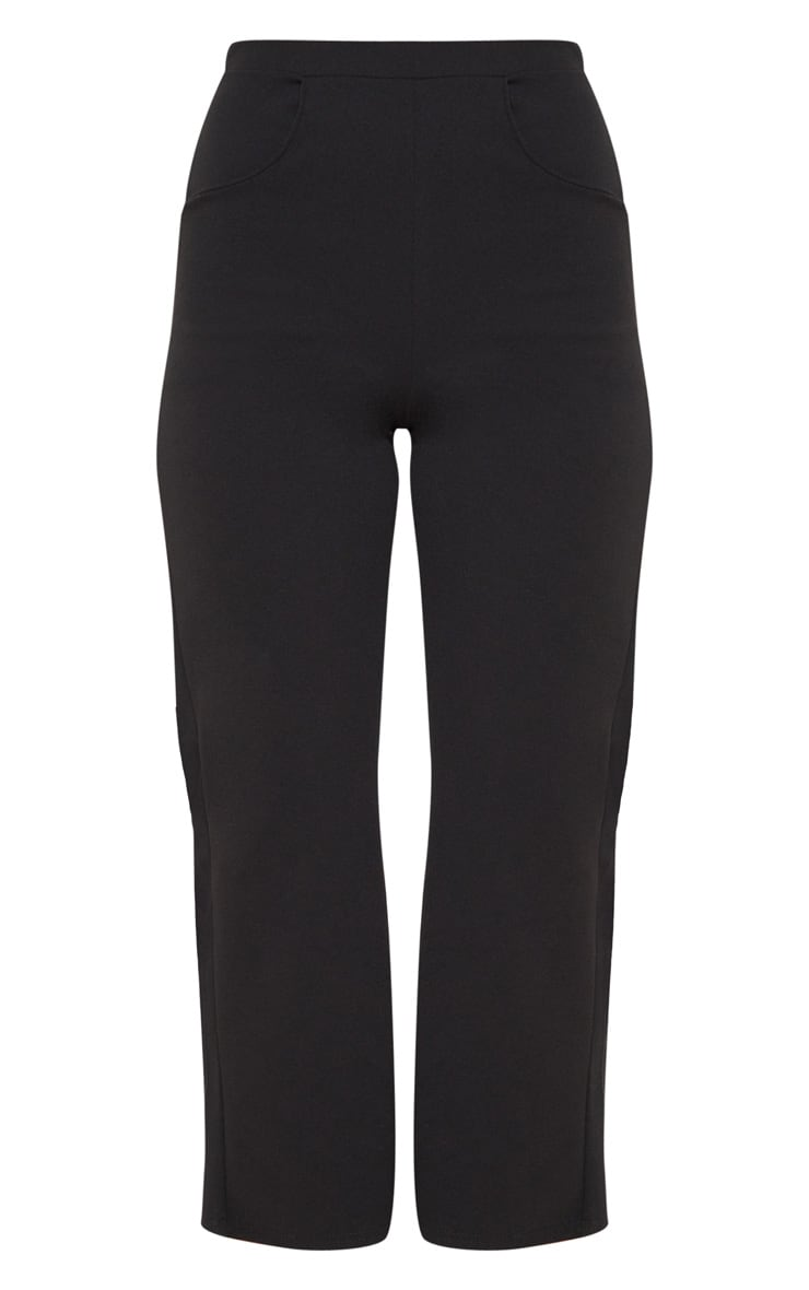 Black Cropped Wideleg Trousers 3