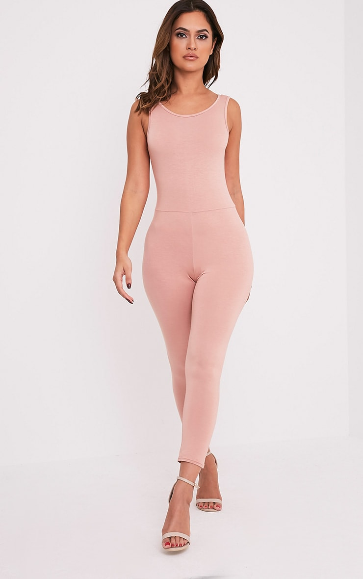Katie Nude Scoop Back Fitted Cropped Leg Jumpsuit 4