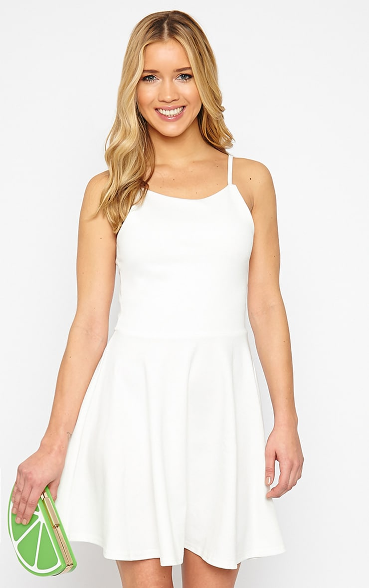 London Cream Skater Dress 4