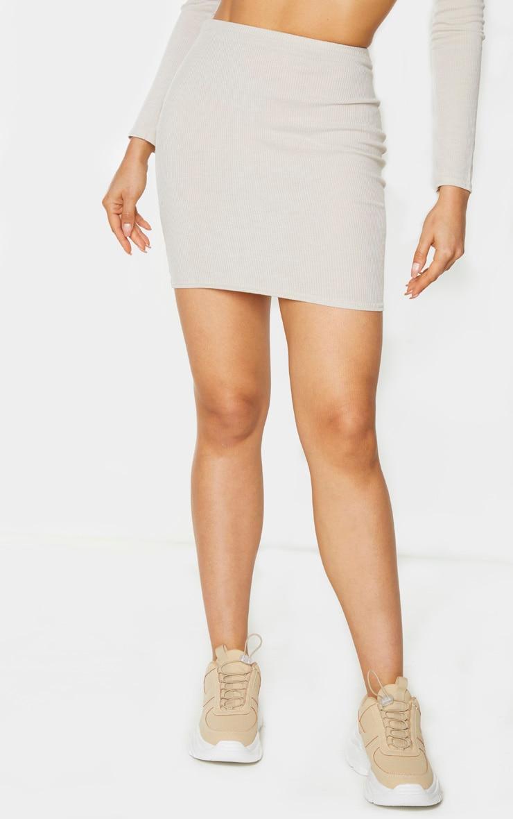 Tall Stone Ribbed Skirt 3