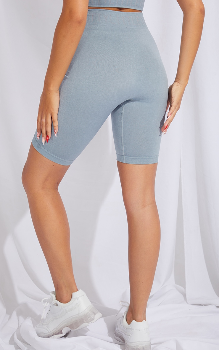 PRETTYLITTLETHING Pale Blue Seamless Cycling Shorts 4