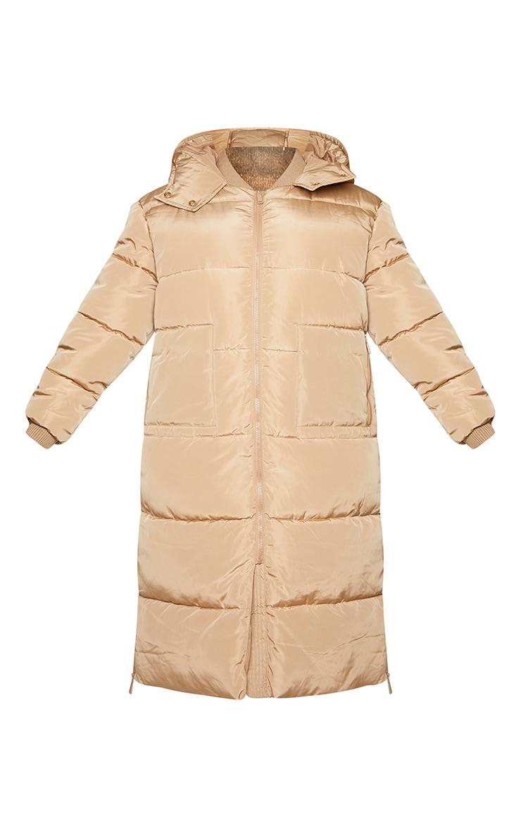 Plus Stone Maxi Hooded Puffer Jacket 5