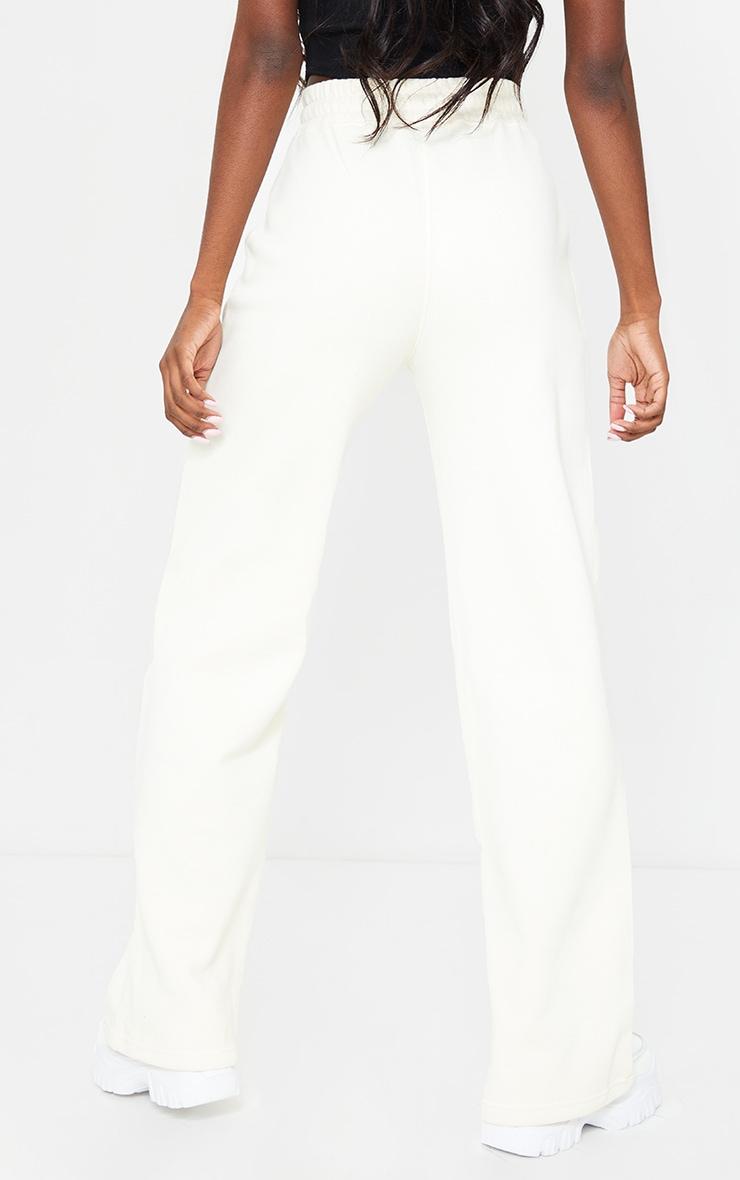 PRETTYLITTLETHING Tall Cream Wide Leg Sweat Pants 3
