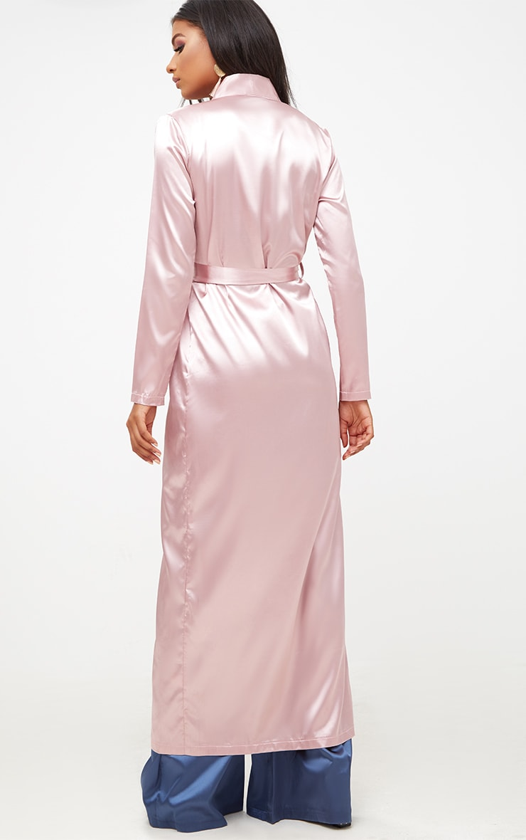 Pink Satin Duster 2